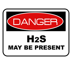 Danger H2S sign